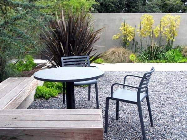 Simple Patio Home Exterior Designs Gravel Landscaping