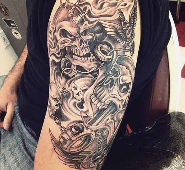 Simple Piston Men's Tattoos