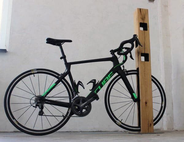 Simple Post Beam Bicycle Storage Ideas