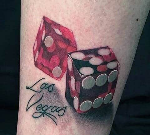 75 Dice Tattoos For Men The Gamblers Paradise Of Life