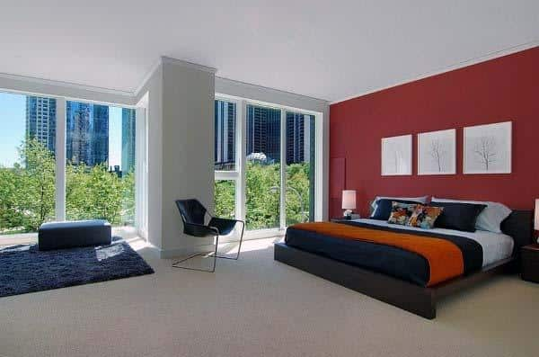 Simple Red Bedroom Ideas