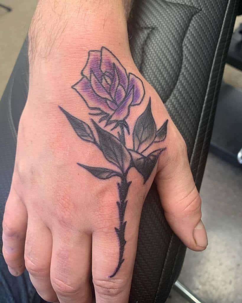 simple rose hand tattoos jdgrimtattoo