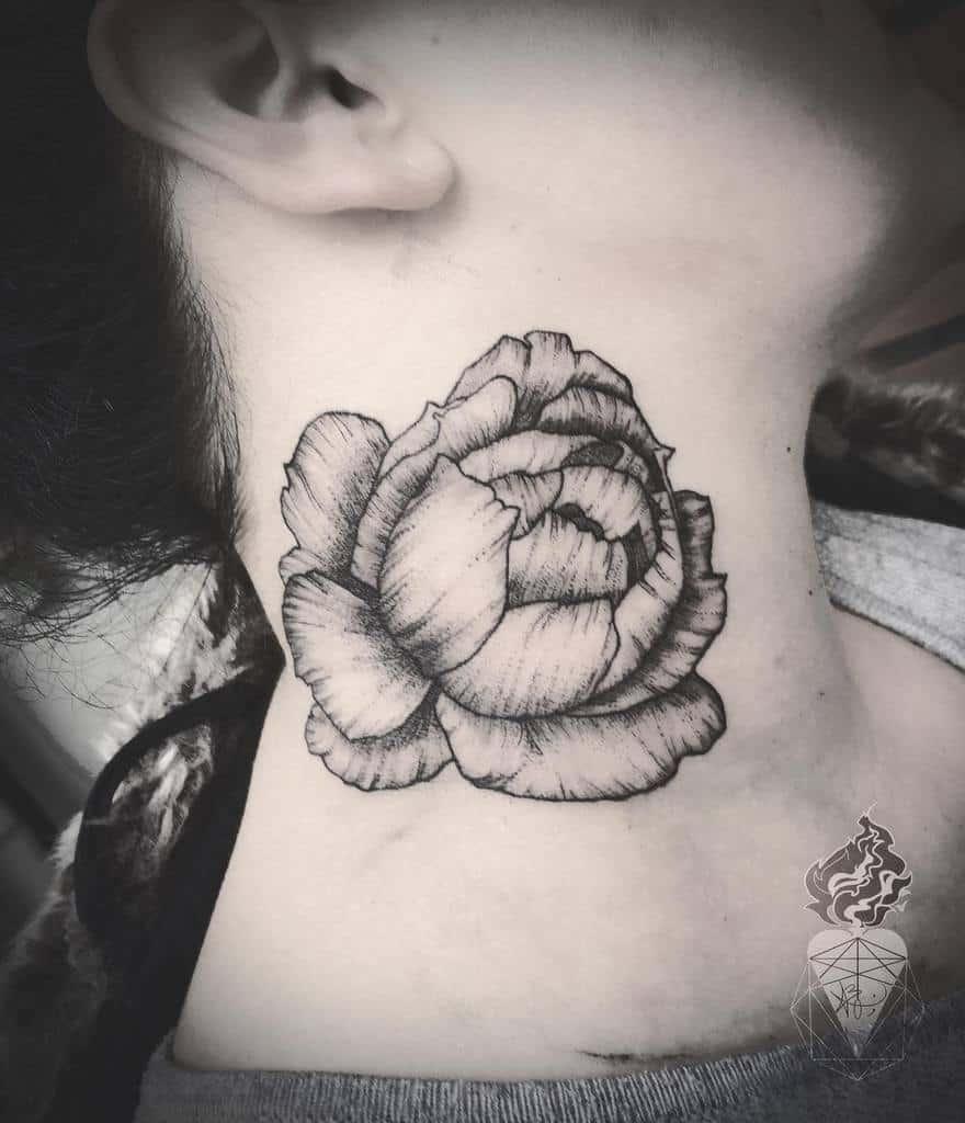 simple rose neck tattoos blakelumen_tattooart