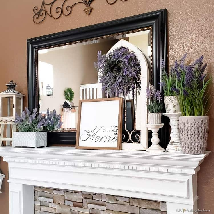 Simple Seasonal Mantel Decor D.r.feelingsfordecor