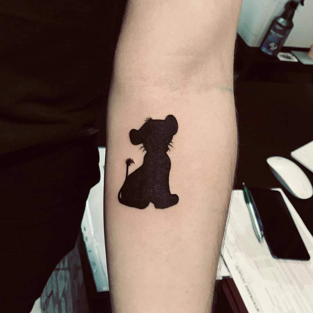 Simple Simba Tattoo Inkchico