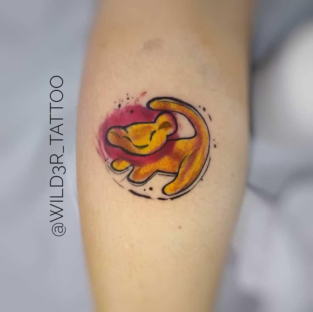 Simple Simba Tattoo Wild3r Tattoo