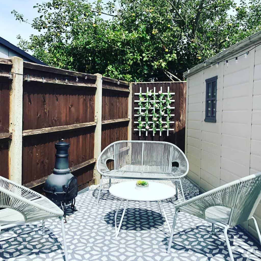 simple small backyard patio ideas simplewithahintofsparkle
