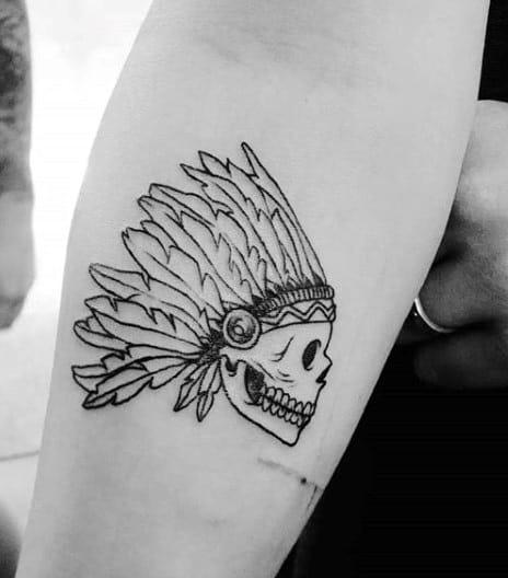 Skull Warrior Simple Small Tattoos For Men