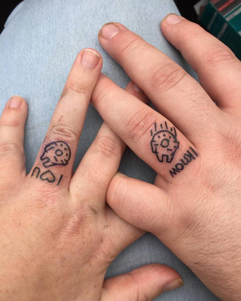 Simple Themed Wedding Ring Tattoo Amylouise0o0