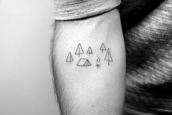 Simple Tiny Inner Forearm Cool Tree Mens Tattoos