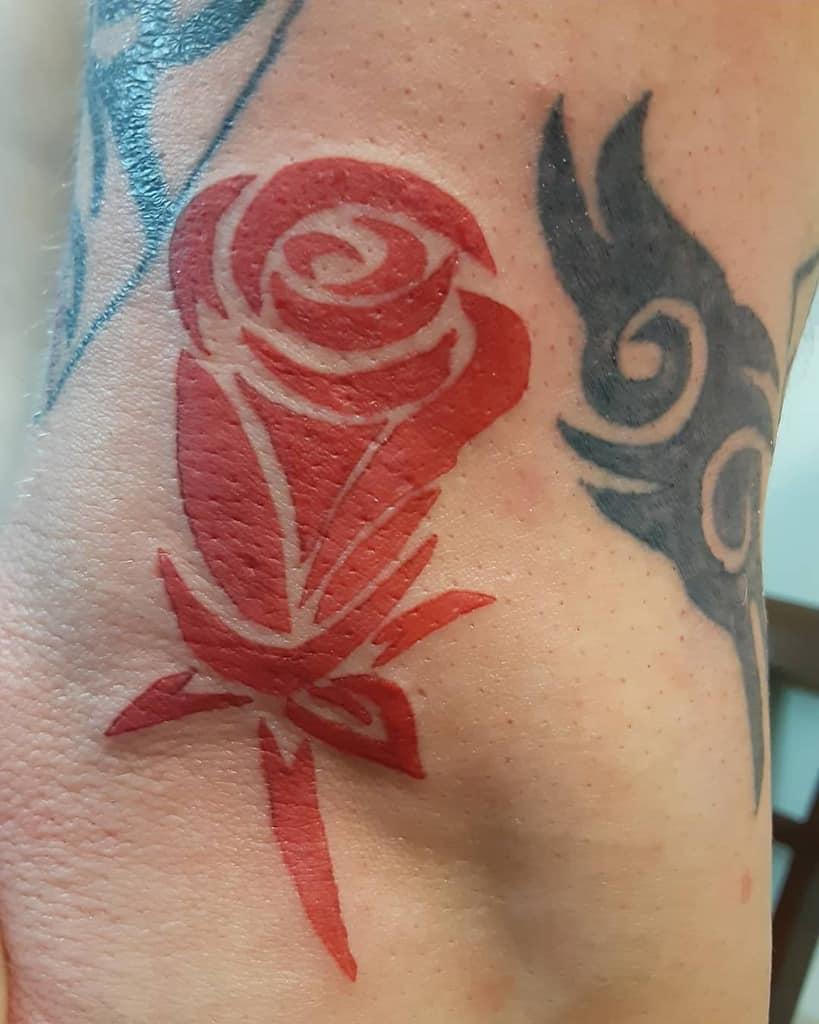 simple tribal rose tattoos ladybaetattoos