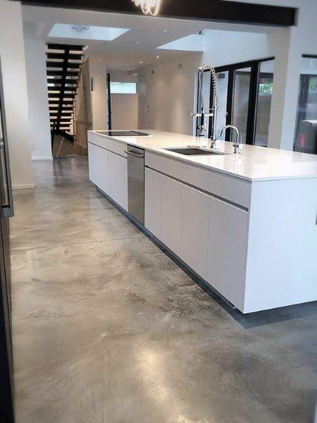 Simple Unfinished Concrete Floor Ideas