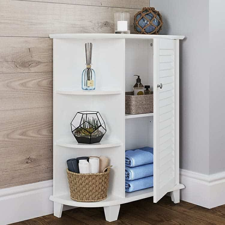 Simple White Awkward Corner Cabinet Riverridgehome