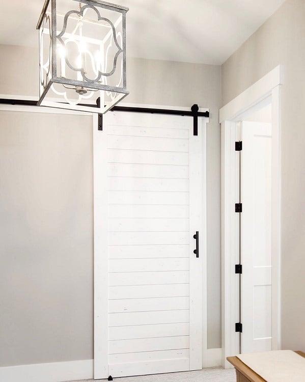 Simple White Closet Barn Door