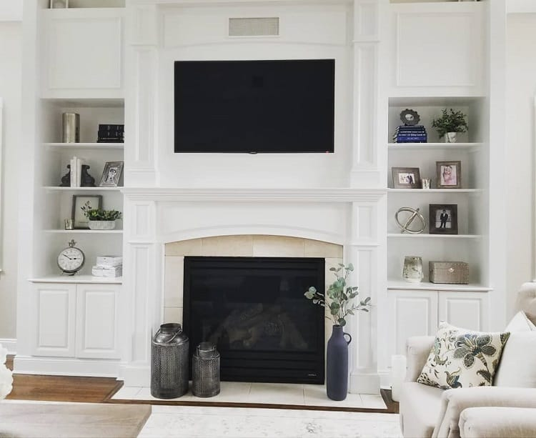 Simple White Fireplace Surround Designinspiration020