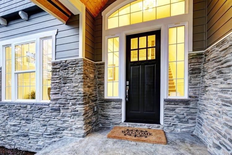 Simple White Modern Exterior Window Trim