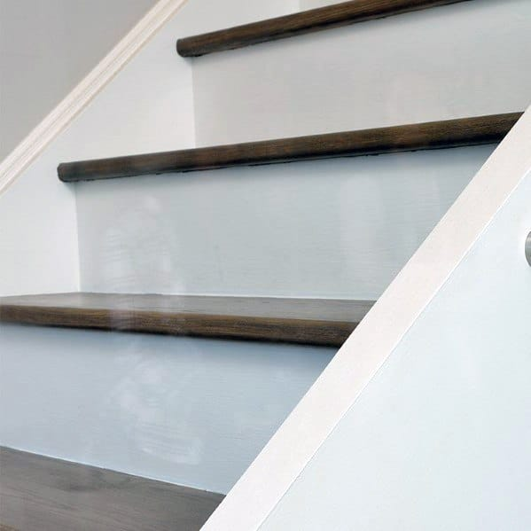 Simple White Painted Wood Design Ideas For Stair Trim