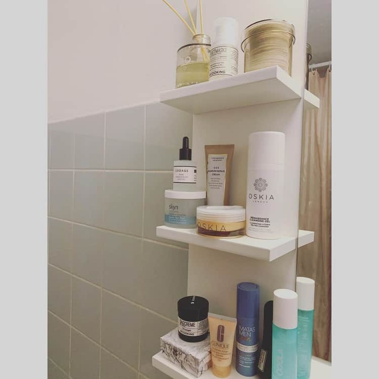 Simple White Toiletries Shelf Carinaknudsenmedc