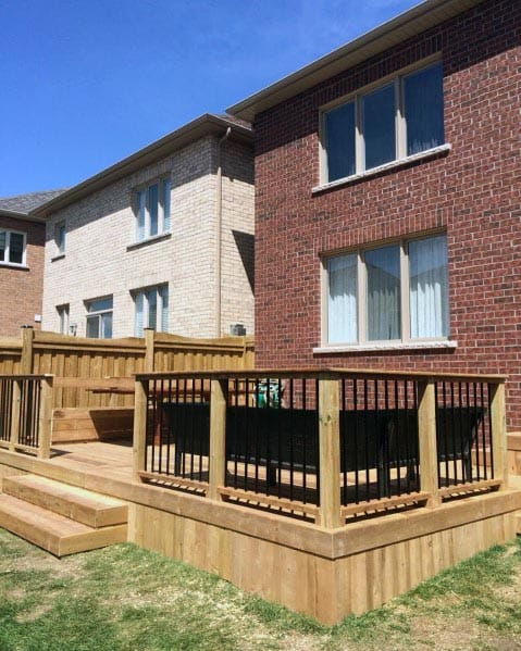 Simple Wood Deck Skirting Backyard Design