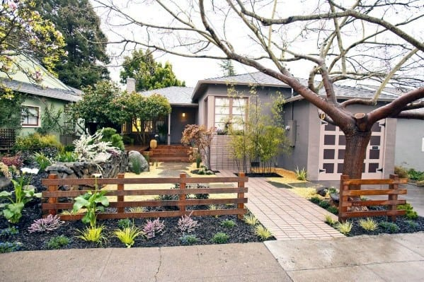 Simple Wood Fence Ideas For Front Yard