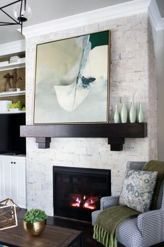Simple Wood Fireplace Mantel Design