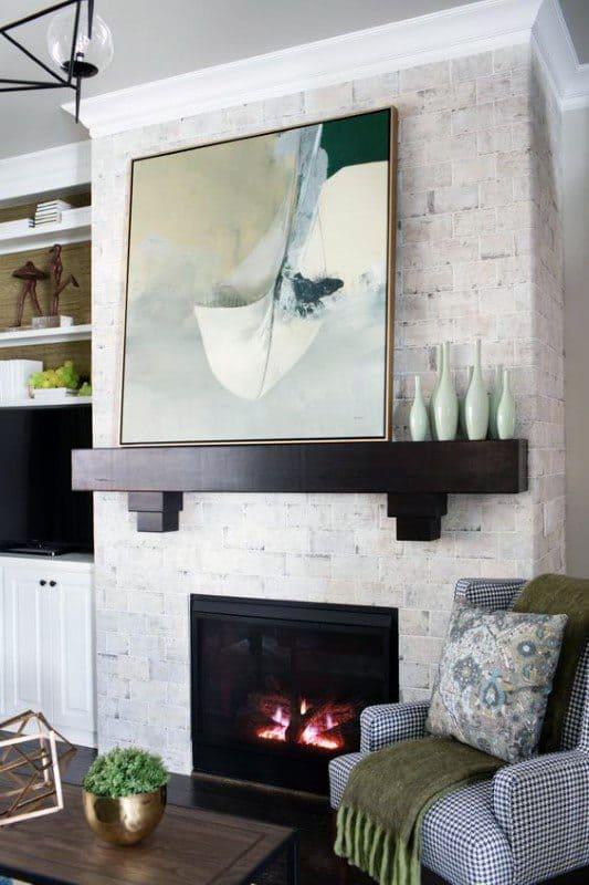Simple Wood Fireplace Mantel Design