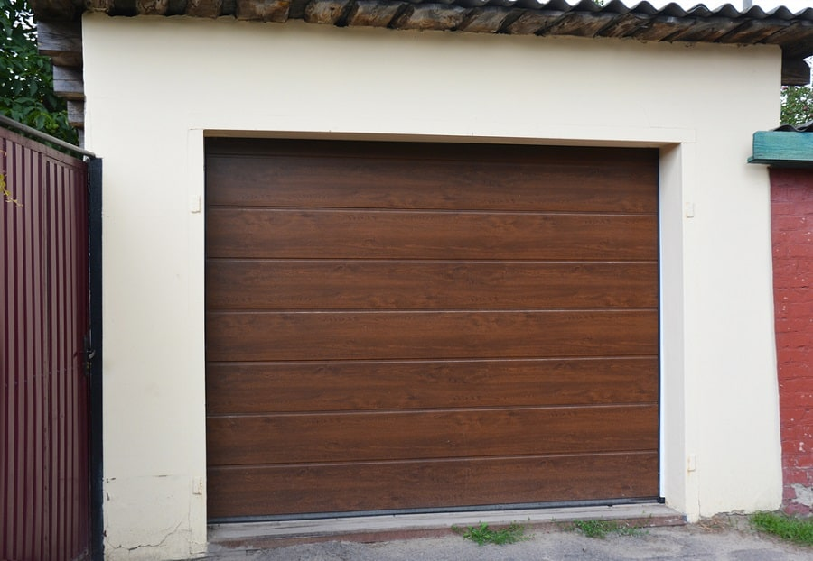 Square Wood Modern Pattern Ideas For Garage Doors
