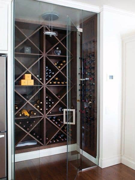 Simple Wood Rack Wine Cellar Ideas