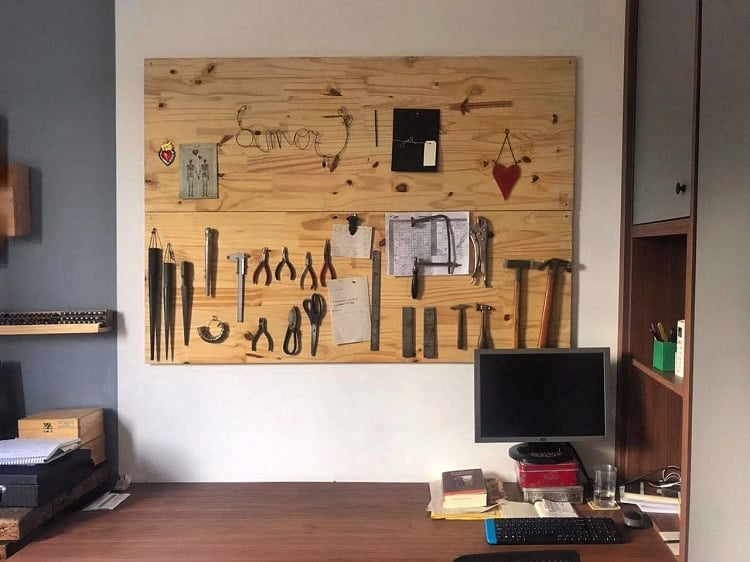 Simple Workspace Pegboard Ideas Pria.arquitetura