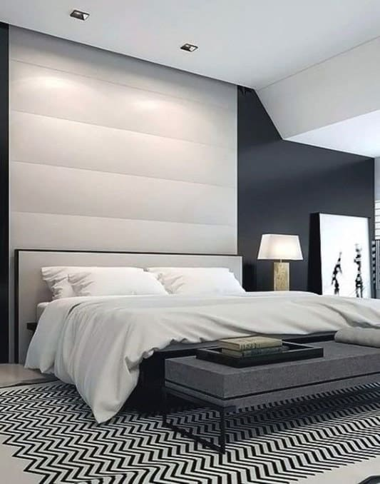 black and white modern bedroom ideas