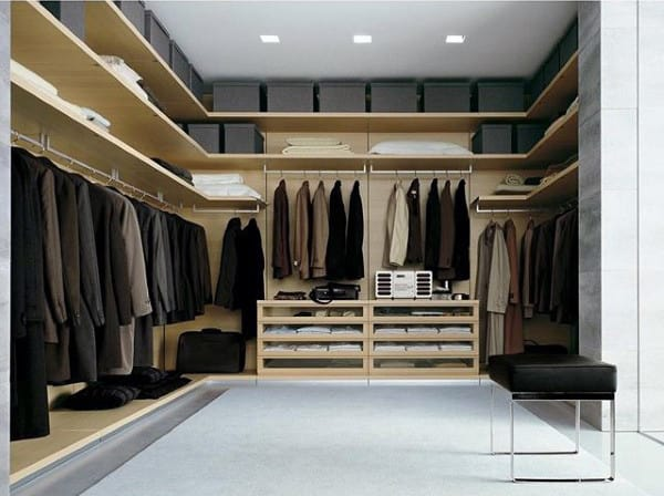 Simplistic Traditional Male Closet