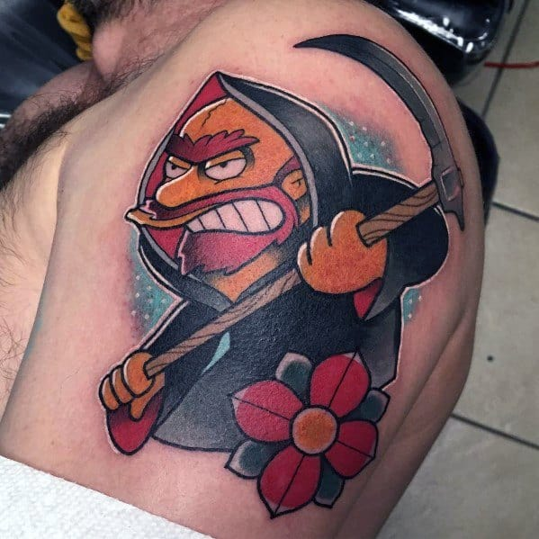 Simpsons Guys Tattoo Designs Grim Reaper Themed