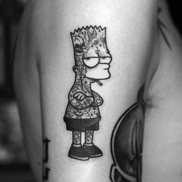 Simpsons Themed Tattoo Design Inspiration