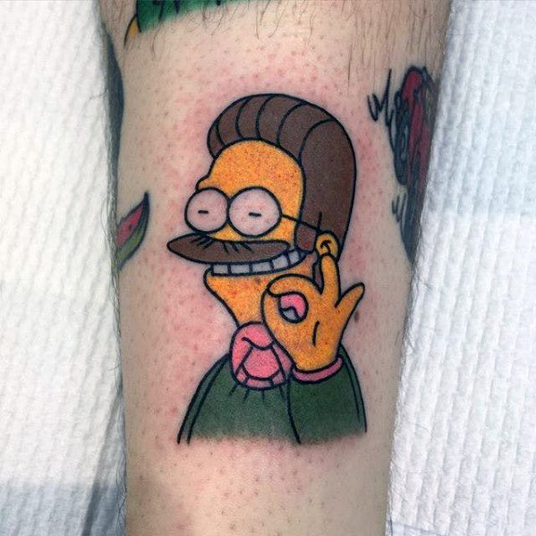 Simpsons Themed Tattoo Ideas For Men