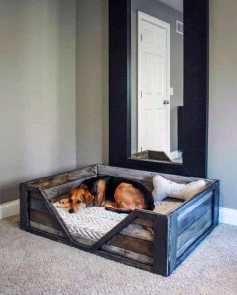 Single Barn Wood Dog Bed Room Ideas