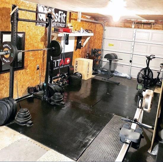 Single Car Garage Private Gym Ideas