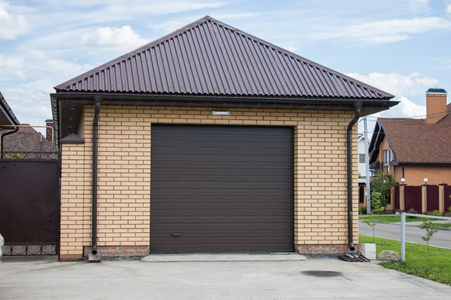 Steel Garage Door Home Designs