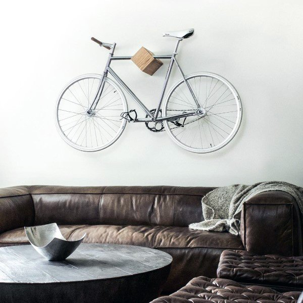 Single Modern Square Block Holder Bicycle Storage Ideas