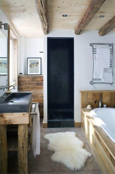 Single Sink Small Rustic Bathroom Ideas