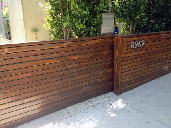 Single Wood Driveway Gate Ideas With Modern Design