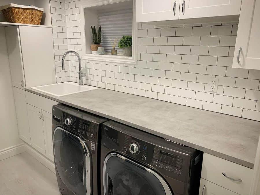 sink cabinet laundry room sink ideas refreshhomeimprovements