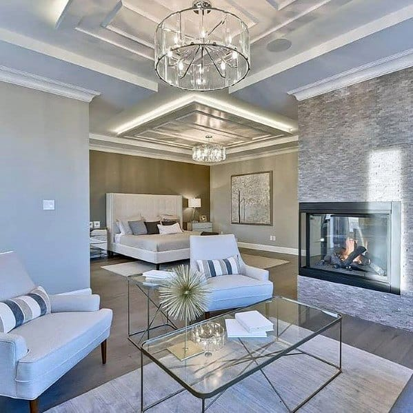 Sitting Room Of Bedroom Home Ideas Crown Molding Lighting