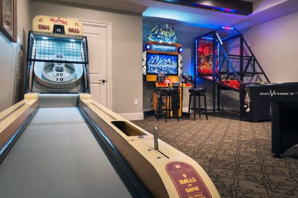 Skee Ball Mens Game Room Ideas