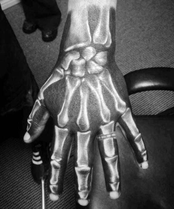 Skeleton Bones Badass Hand Tattoo Ideas For Men