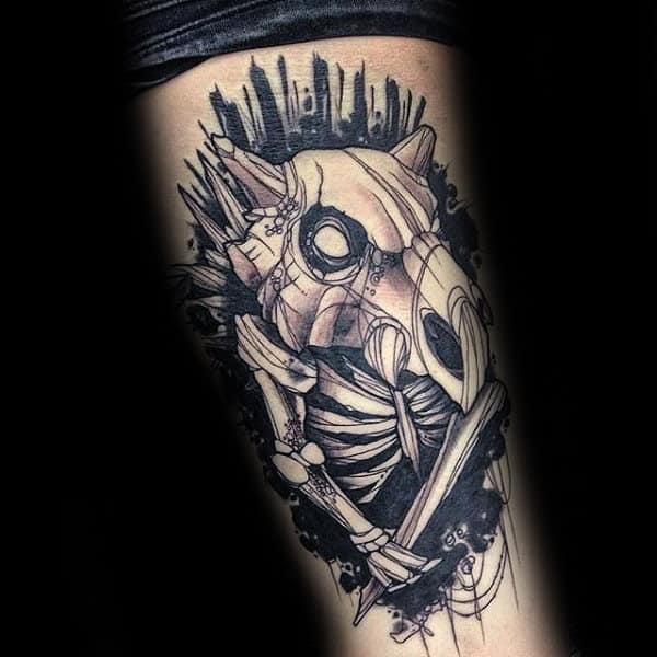 Skeleton Bones Pokemon Guys Creative Arm Tattoos