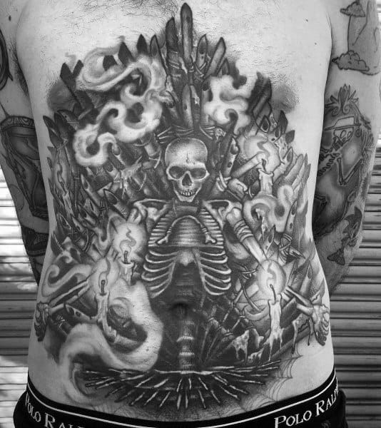 Skeleton Chest Mens Goonies Tattoo