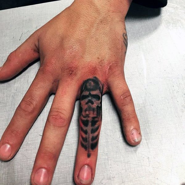 Skeleton Guys Knuckles Tattoos Ideas