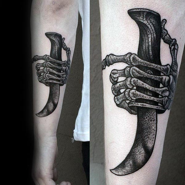 70 Bone Tattoo Designs For Men Skeletal Ink Ideas