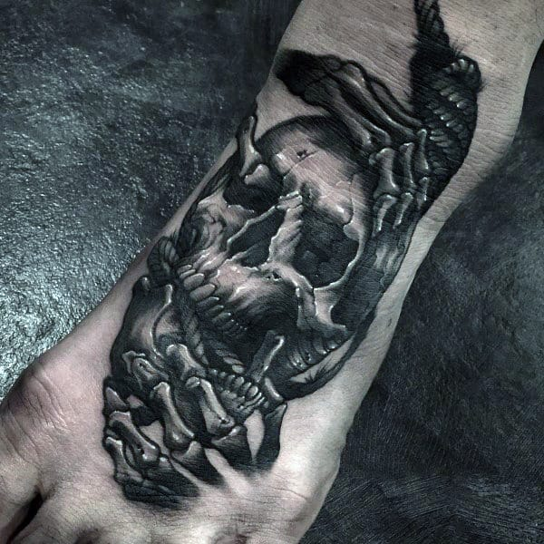 75 nice tattoos for men masculine ink design ideas for Mens foot tattoos