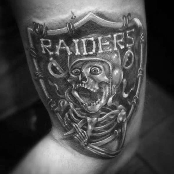 Skeleton Oakland Raiders Tattoos For Men On Arm